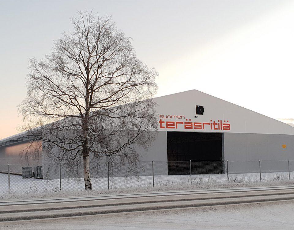 Suomen Teräsritilän uusi varastohalli