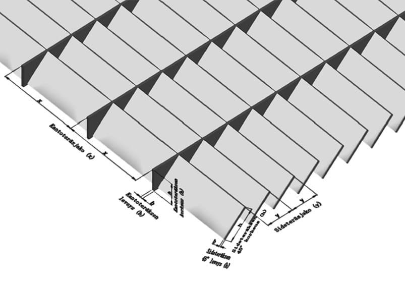 STR-Varjoritilä - Silmäkoot 100 × 33,33 mm ja 100 × 66,66 mm