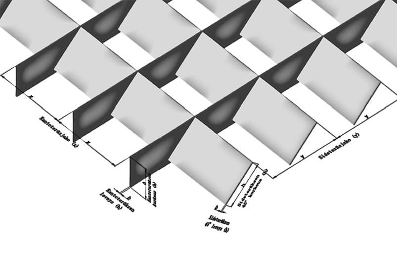 STR-Varjoritilä - Silmäkoot 100 × 100 mm ja 66,66 × 33,33 mm
