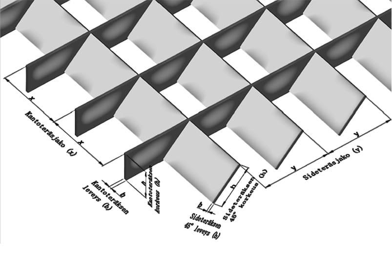 STR-Varjoritilä - Silmäkoot 66,66 × 66,66 mm ja 66,66 × 100 mm
